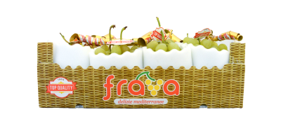 uva fra.va. in packaging con fantasia vimini per linea top quality
